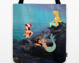Peter Pan Mermaids Tote Bag