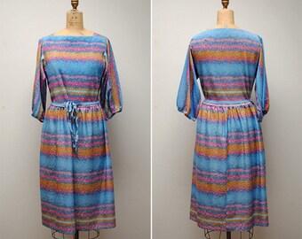 Vintage Floral Dress- Large