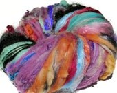 RESERVED for Michelle Arizona Heat Chunky Texture Art Batt  6.3 oz Textured Spinning/Felting