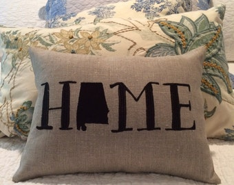Home Embroider 100% linen pillow cover