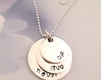 Never Give Up Pendant.