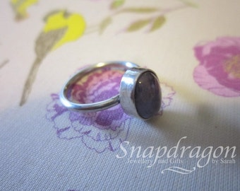 Amethyst sterling silver ring, size 6/L1/2