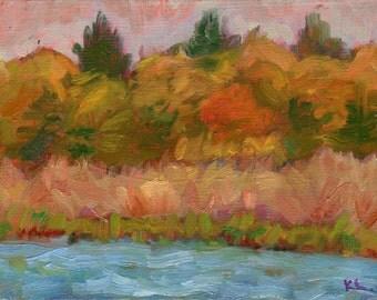 Original Plein Air Landscape Alla Prima Oil Painting