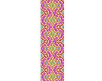 Neon Delight Peyote Cuff Bracelet Pattern