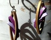 1st Anniversary Jewelry / Paper Earrings / Lightweight Earrings / 1st anniversary gift gift for wife / Eco Friendly Jewelry - Sydney
