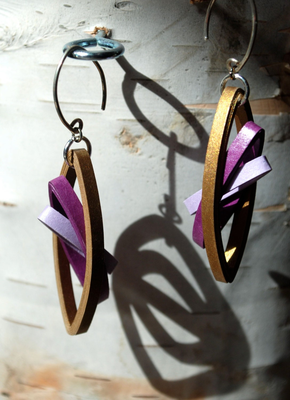 St anniversary jewelry paper earrings lightweight