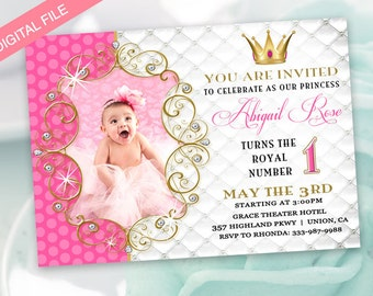 princess invitations  etsy, Birthday invitations