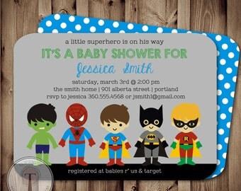 alfa img showing cartoon superman baby shower invitations