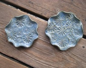 Blue Green Nesting Dishes - Ceramics and Pottery - Small Serving Trays - Starburst Design