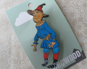 Wood Brooch - Scarecrow (Wizard of Oz)