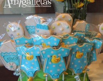 Ducky Baby Shower Cookies   1 Dozen
