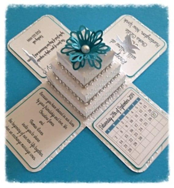 Gift Box Wedding Invitations: Items Similar To Explosion Box Invitation On Etsy