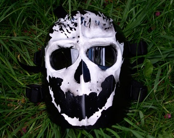 Army of Two v1 Halo Style Airsoft Mask Silver - Made to order -