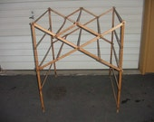 Antique FOLDING HardWood RACK-Extra Lg. Multi-USE: Hang or Sell Items, Dry Clothes, Retail/Store Display, Etc., E-Z Storage, Sturdy
