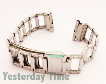 Vintage New Old Stock Everyman 1930's Gents 19mm Metal Watch Strap