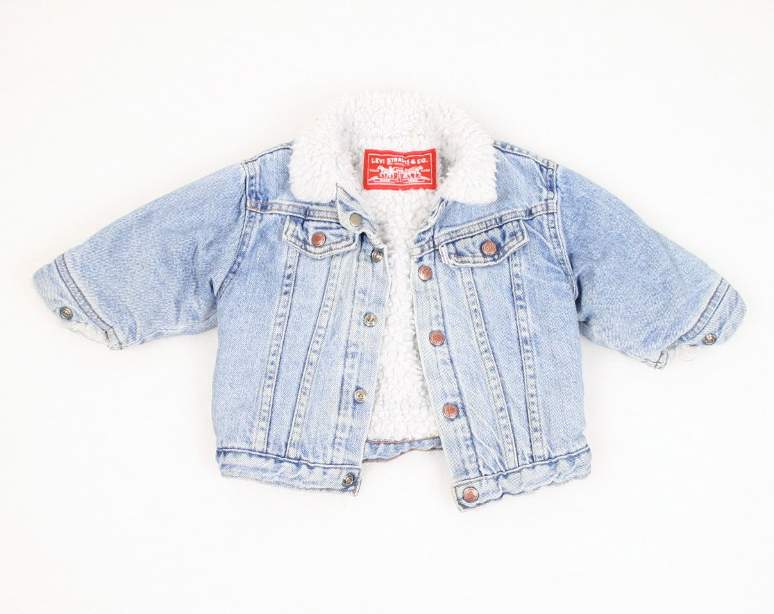 Vintage Baby Denim Jacket Levis Blue Jean Jacket 18 months 18m