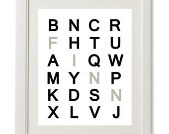 Custom Alphabet Letter Name Nursery Printable
