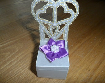 Gift Box, Beautiful handmade parchment , ideal for wedding favours, chocolates, jewellery or small gifts.