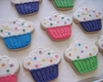Cupcake Cookies - Whimsical (1 dozen)