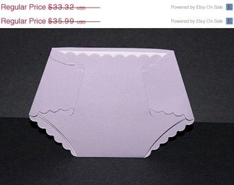 25  Plain  baby shower diaper die  for your DIY invitations  envelopes are not included
