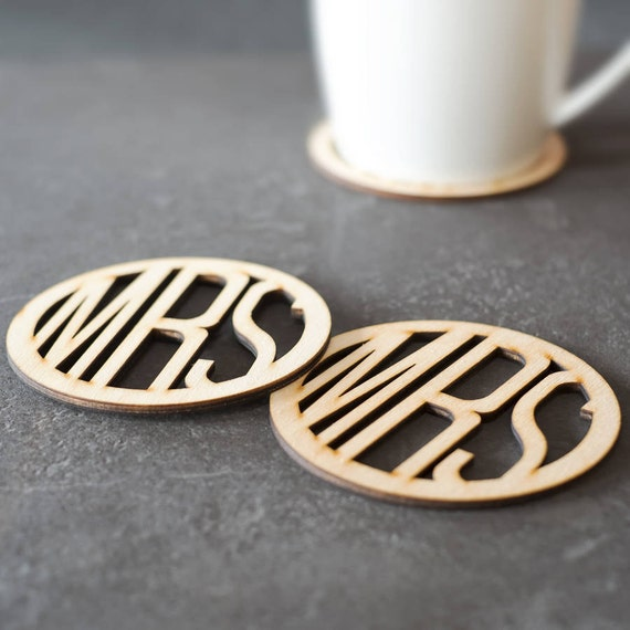 Mrs And Mrs Wooden Coasters Drinks Coasters Lesbian