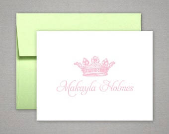 Personalized Stationery  |  Thank You Notes | Personalized Note | ROYAL CROWN | Elegant Stationery for Her | Script