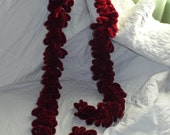 burgundy retro rope scarf