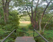 take a stroll with me, meadow bridge, original photography