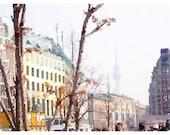 Berlin Skyline Watercolor