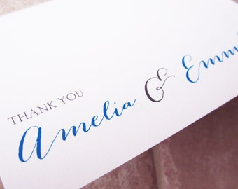 200 Wedding Handwriting Script Personalized Stationery Thank You Note Card
