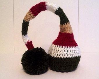Christmas Hat, Stocking Cap Newborn Baby Hat, Elf Hat, Crochet Baby Hat, Baby Boy Hat, Baby Girl Hat, Baby Shower Gift, Photo Prop, Knit Cap