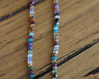 Handmade Semi Precious Stone Necklace with Sterling Silver Clasp