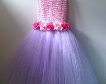 Girls Tutu Flowergirl  Dress Blush Pink,Fuchsia and lavendar girls sizes 3t to 14/16 girls This can be done in your Bridal Colors