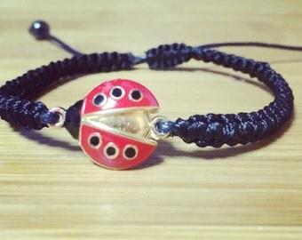 Lucky Little Lady Bug Bracelet