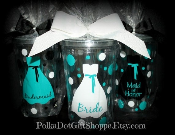 Bridesmaid Acrylic Tumblers, Gifts for Bridesmaids, Maid of Honor, Flower Girl Gifts, Tumblers