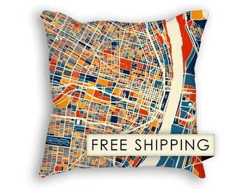 St Louis Map Pillow - Missouri Map Pillow 18x18