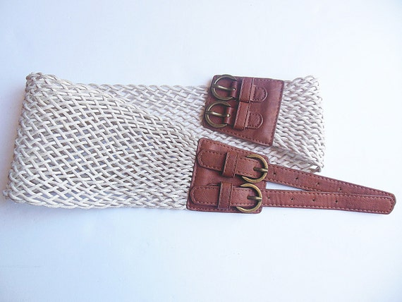 belt braided leather cord and