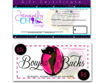 Custom Gift Certificate/Coupon Design