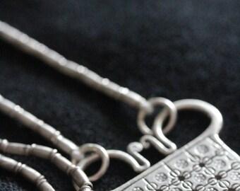 Soul-lock amulet handmade Karen silver necklace (N0053)