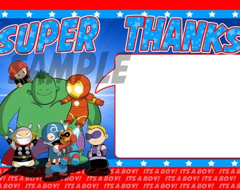 Baby Avenger Thank You Notes