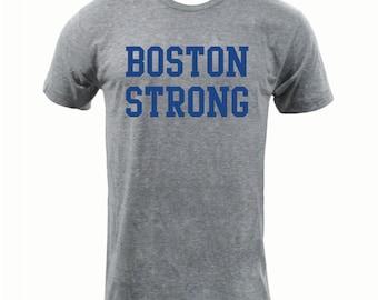 Boston Strong- Athletic Grey - American Apparel