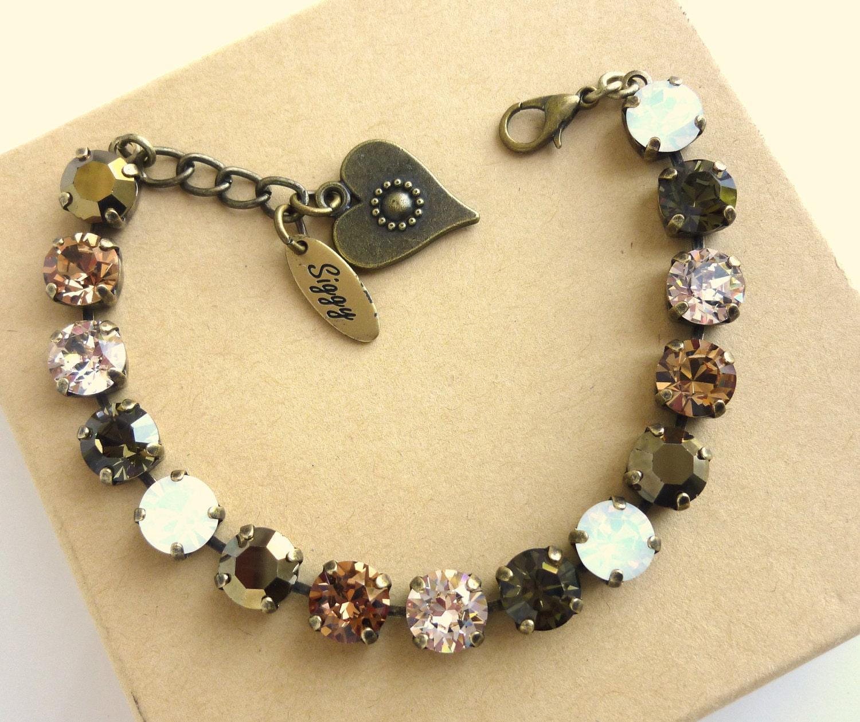 swarovski crystal tennis bracelet 8mm swarovski elements. Black Bedroom Furniture Sets. Home Design Ideas