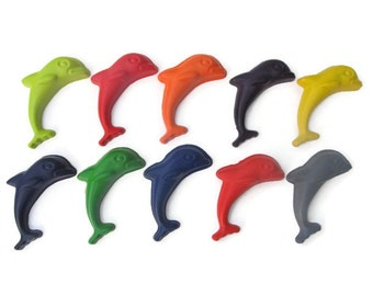 Jumbo Dolphin Crayons set of 10 - Party favors