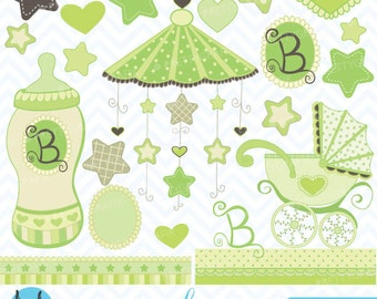 Baby clipart commercial use, vector graphics, digital clip art, digital images - CL387