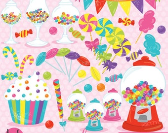 Candy clipart commercial use, candy land vector graphics, digital clip art, digital images - CL707