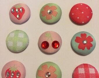 Strawberry & Cherry Magnet set