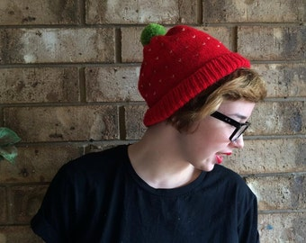 STRAWBERRY Beanie Made to order