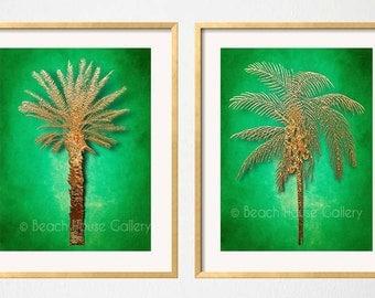 Palm tree wall art | Etsy