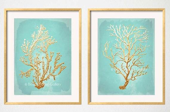 Mint Gold Wall Decor Aqua Mint Teal Aqua Wall By
