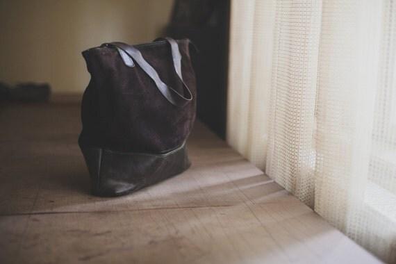 Brown Shoulder Bag,15 inch Laptop Bag, Tote Bag, Handmade Office Bag, Leather Shoulder Bag,